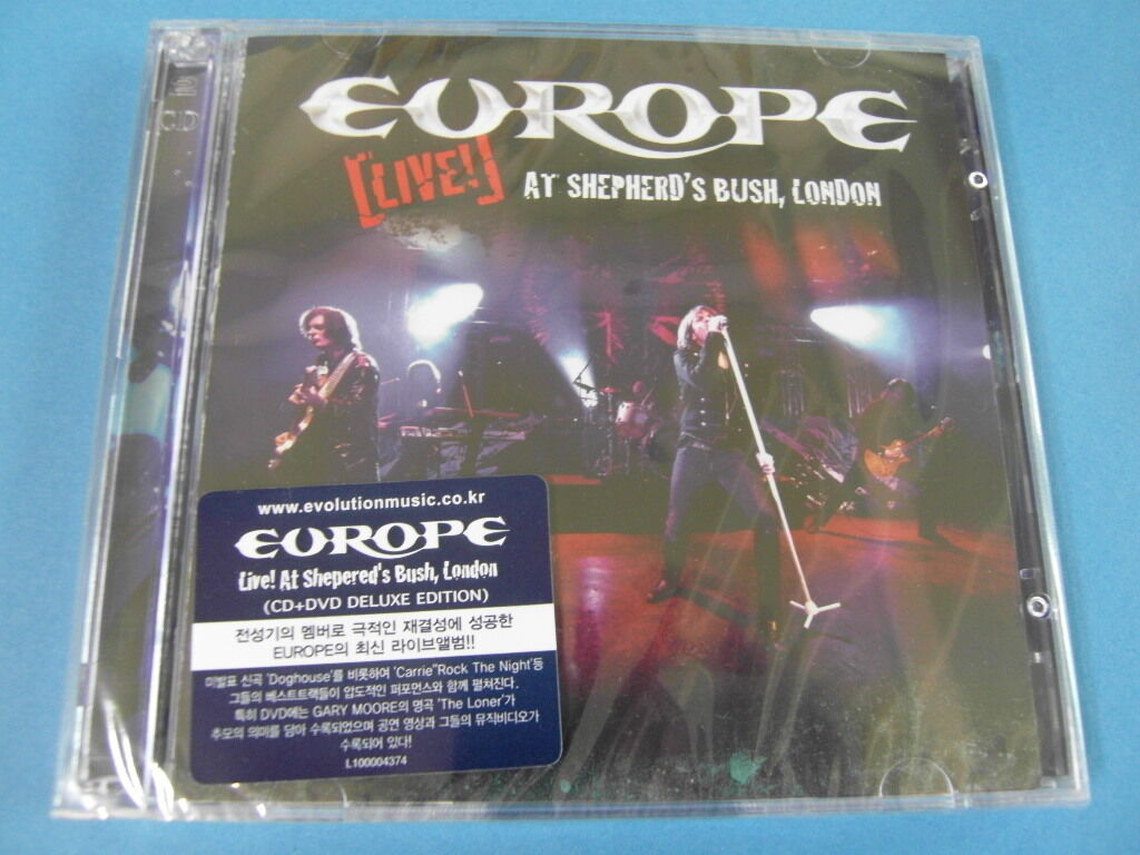 Europe - live at shepherd's bush, london cd & dvd $2.99 s&h