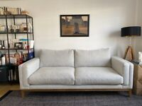 Light grey 3 seater sofa