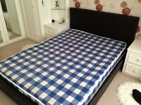 Faux leather double bed in perfect condition BARGAIN!