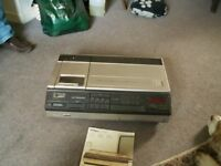 VHS video recorder.