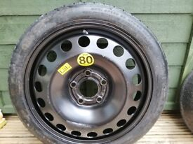 Vauxhall Astra space saver wheel & toolkit