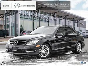 2014 Mercedes-Benz C-Class C300 4MATIC!! CPO!! Accident Free!!
