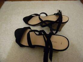 Aah New shoes black strap cork sandals