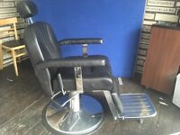 Barber shop chairs 2 for sale . Fully reclining great condition £660 the pair will split.