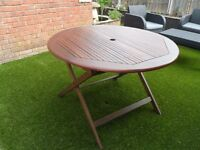 Wooden Garden Table 1100cm wide Fold up for easy storage