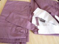 Purple pair of curtains ~ Sandow & Bourne