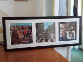 Three Framed Beatles Albums
