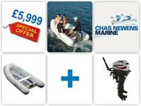 NEW AB 11 AL 11ft Aluminum Rib Dinghy Tender Inflatable PLUS Mariner 20hp Outboard - Special Offer