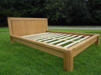 Beautiful Solid Oak King-Size Bed
