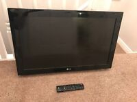 LG 31inch tv. No stand comes with remote and plug