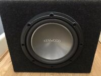 Kenwood 10inch 1000W Subwoofer KFC-W2512 Good working condition with box enclosure