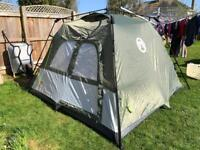 Coleman 4 Man Instant Tent in Camouflage Green.