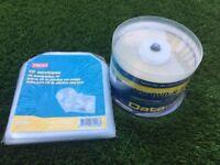 Lightscribe DVD-R 50 spindle £45 plus plastic CD envelopes £3