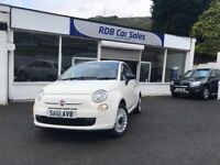 Fiat 500 1.2 Pop (s/s) 3dr. Low Miles, £20 Road Tax, Finance Available
