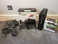 XBOX 360 Elite 250Gb Forza Limited Edition + Accessories and 11 Games