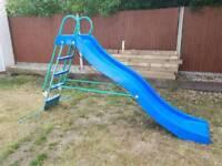 9- foot outdoor slide