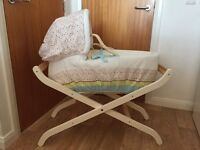 Moses Basket and stand from Mothercase