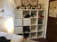 Ikea Shelf Unit, 147cm x 147cm - Style: Kallax - Color: White
