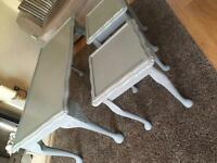 Set of 3 Shabby Chic tables