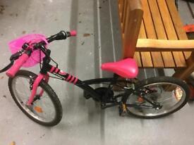 "20"" girls Decathalon bike"