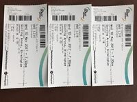 WWE Live Genting Arena 10th May - 3 Tickets - Floor/Ringside Seating - Block B