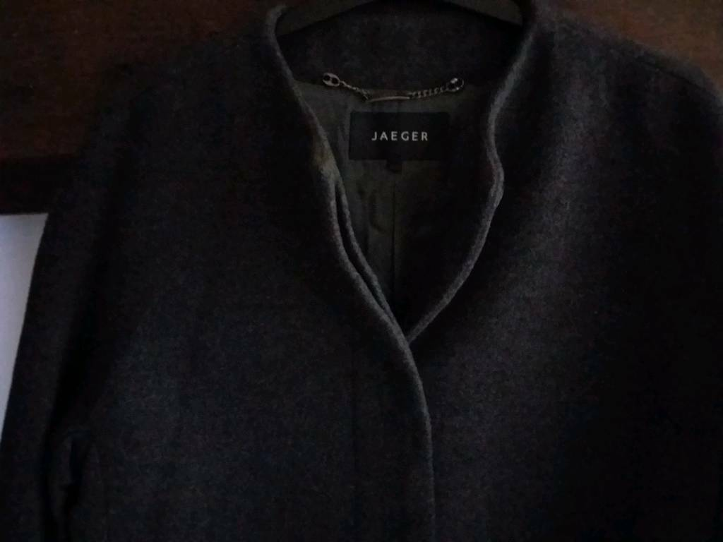 07378ca1 Ladies Jaeger Grey Winter Coat. Size 10-12 | in Newark ...