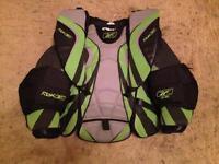 Ice hockey goalie chest pads