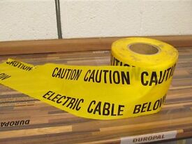 Electrical warning tape for covering underground cables - approx 65m remaining
