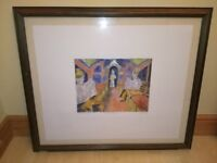 Framed Picture Hanging Wall Decor Art - On the Underground by G. Todd