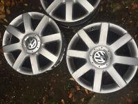 "17"" genuine vw alloy wheels"