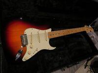 Fender USA made American Standard Stratocaster 3 tone sunburst w/maple neck