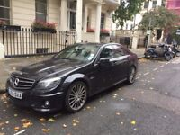 Mercedes C class AMG for sale. £28,500 Left hand drive. 2010, black with all options