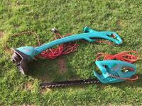 Bosch Garden Tools hedge trimmer & Strimmer