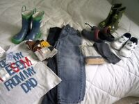 Boys brand new and nearly new clothes and shoes