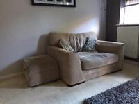 Large Sofa Single Seat and Storage Footstool