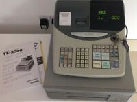 Casio TE-2000 cash register Shop Till with user manual, operator & cash drawer key