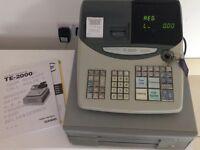 Casio TE-2000 cash register Shop Till with user manual, operator & cash drawer key