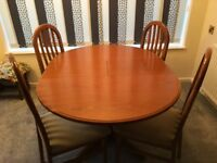 Nathan Style Dinning Table & Chairs