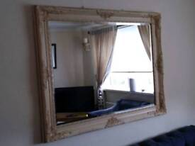 Very large substantial mirror cream