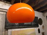 Pair of retro orange light fitting