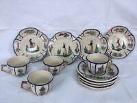 Vintage China Quimper (Breton) Teaset