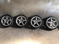 205 /40/R17 ALLOYS MULTI FITMENT 5x100 5x112 All tyres like new