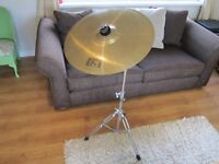 "16"" Crash Cymbal Complete With Boom Stand."