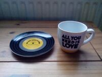 All you need is love cup& saucer