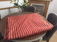 Beautiful heavy duty long curtain fabric &tiebacks