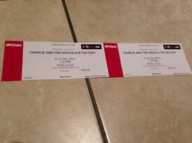 2 x tickets for Charlie and the Chocolate Factory Thestre Royal Drury Lane Friday 23rd Dec 2016