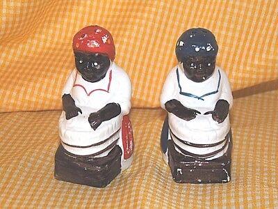 BLACK AMERICANA SALT AND PEPPER SHAKERS (8B193)