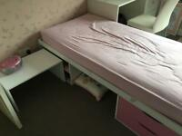 Girls single storage bed