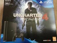 Sony PlayStation 4 500gb with Unchartered 4