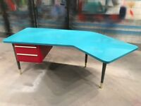 Mid-century modern executive desk. Vintage. Retro.